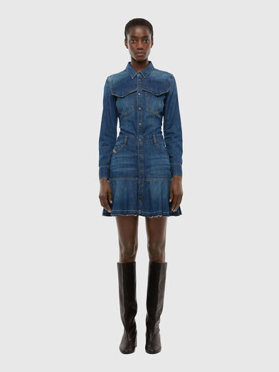 Diesel - DE-JOANA, Medium blue - Dresses - Image 1