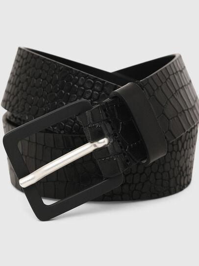 Diesel - B-CROCLE, Black - Belts - Image 2