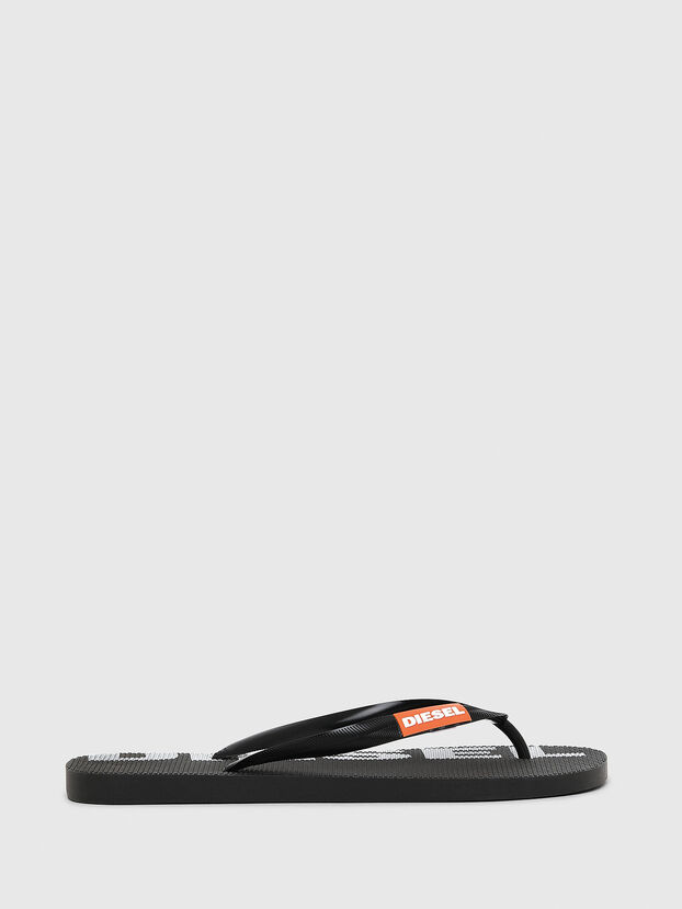 SA-BRIIAN, Black/White - Slippers