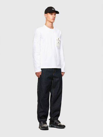 Diesel - T-TASK-LS, White - T-Shirts - Image 5