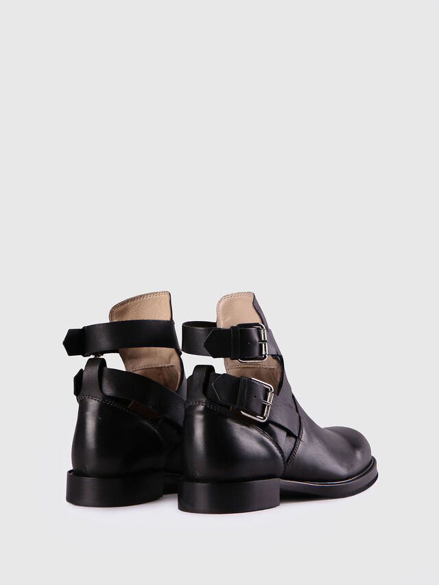 Diesel - D-KOMB BOOT FOB, Black Leather - Ankle Boots - Image 3