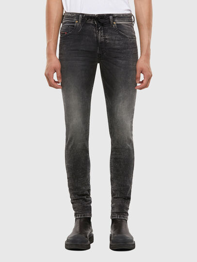 Diesel - Thommer JoggJeans 009KC, Black/Dark grey - Jeans - Image 1