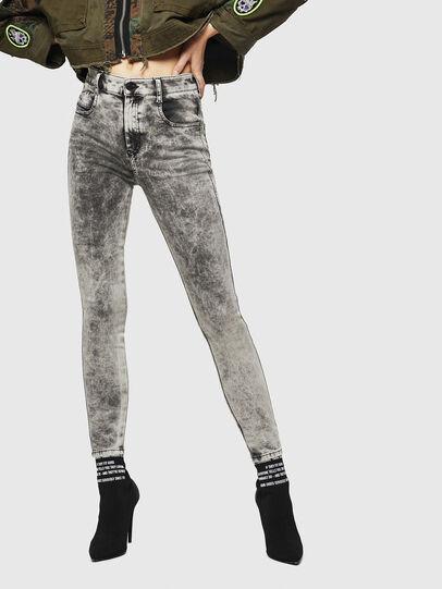 Diesel - Slandy High 069GQ, Light Grey - Jeans - Image 1