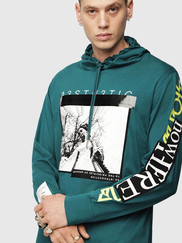Diesel - T-FONTY-YB, Dark Green - T-Shirts - Image 3