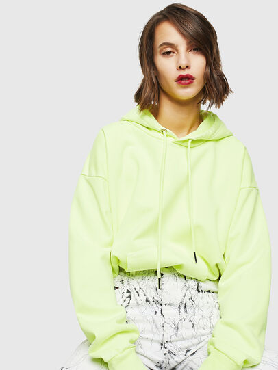 Diesel - S-ALBY-FLUO, Yellow Fluo - Sweaters - Image 5