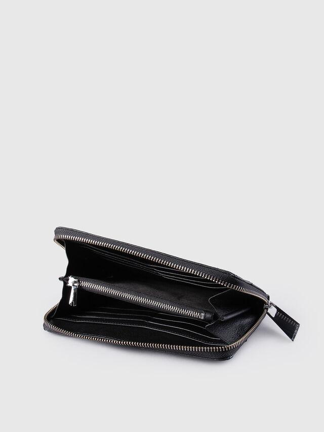 Diesel - GRANATO, Black Leather - Zip-Round Wallets - Image 4