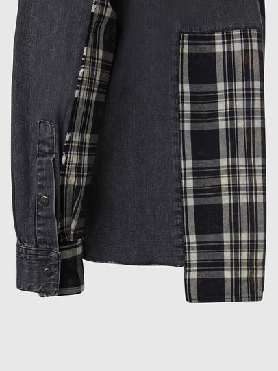 Diesel - D-FINLY, Dark grey - Denim Shirts - Image 4