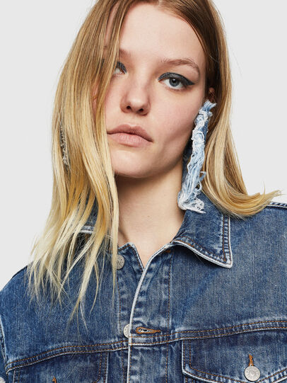 Diesel - DE-ABBY, Medium blue - Denim Jackets - Image 4