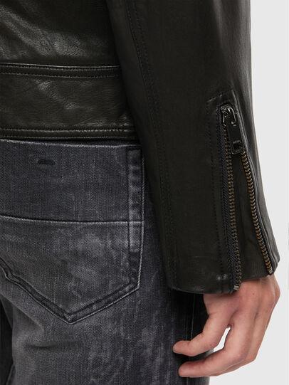 Diesel - L-LUC, Black - Leather jackets - Image 4