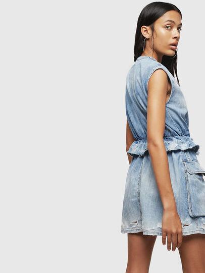 Diesel - DE-AVA, Light Blue - Dresses - Image 5