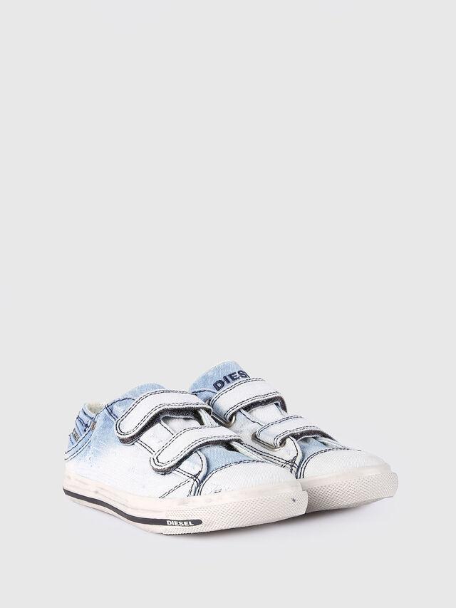 KIDS SN LOW STRAP 11 DENI, Light Blue - Footwear - Image 2