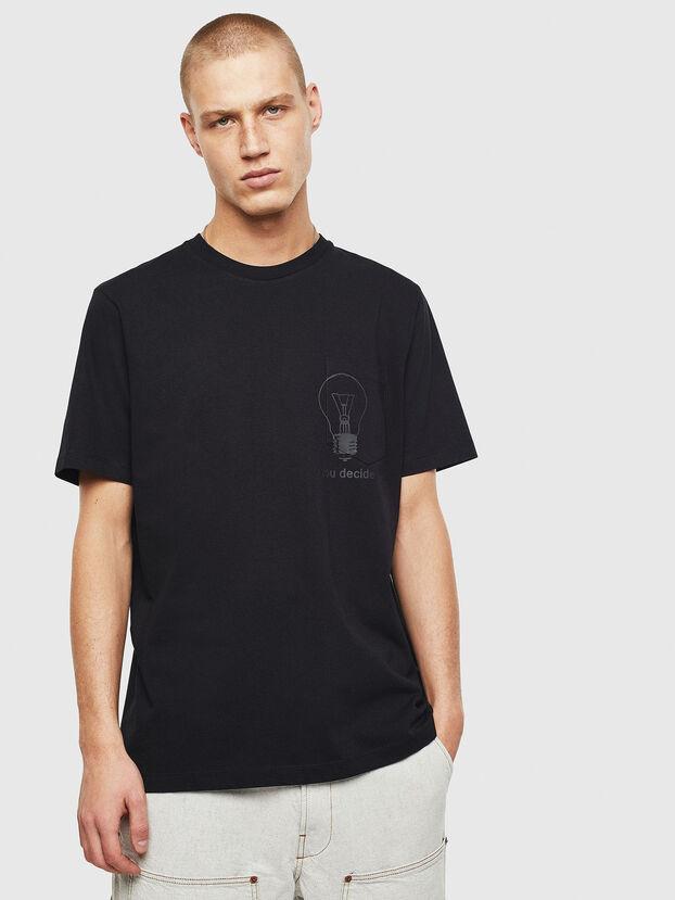 T-JUST-POCKET-T17, Black - T-Shirts