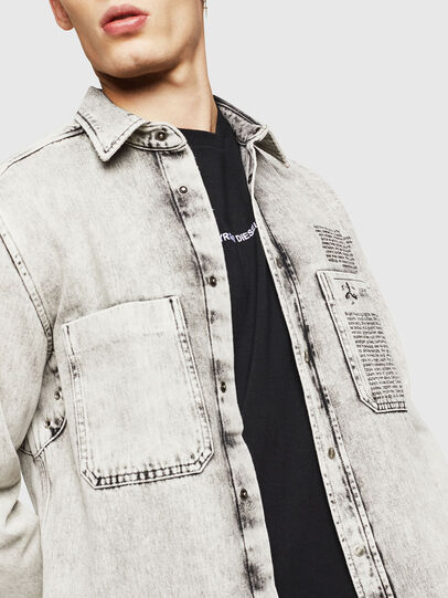 Diesel - D-MILOV, Grey - Denim Shirts - Image 5