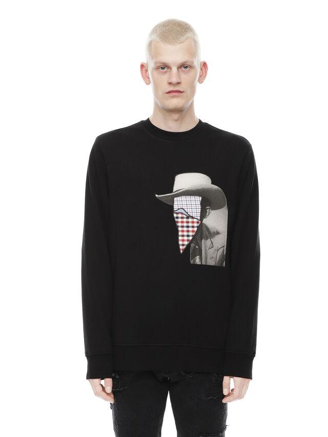 Diesel - SNEILB-PEZZABOY, Black - Sweaters - Image 1