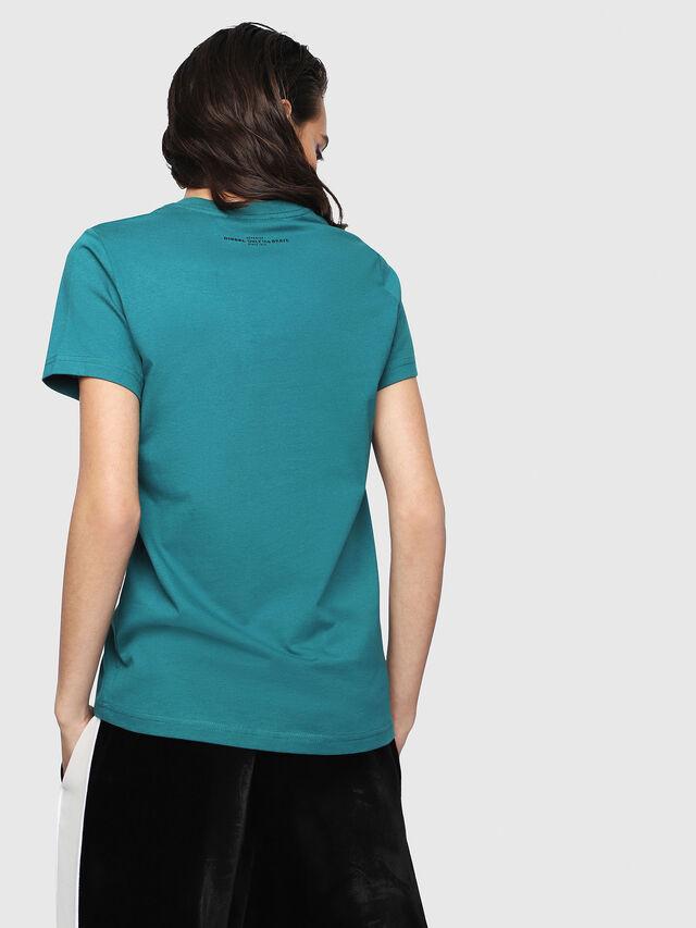 Diesel - T-SILY-WG, Dark Green - T-Shirts - Image 2