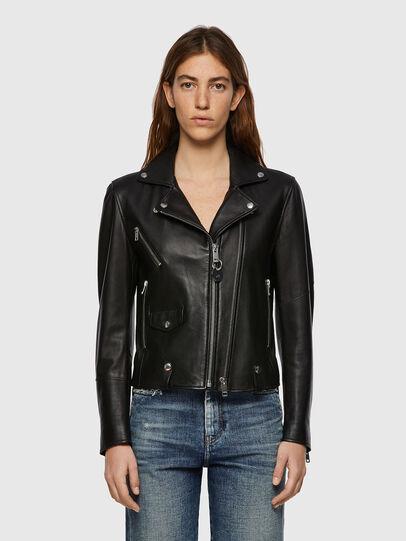 Diesel - L-LYFA, Black - Leather jackets - Image 1
