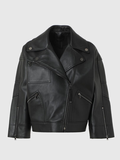 Diesel - L-HAZEL, Black - Leather jackets - Image 1