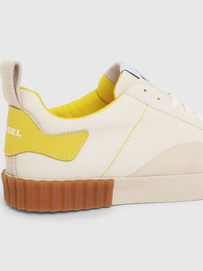 Diesel - S-BULLY LC W, White/Yellow - Sneakers - Image 4