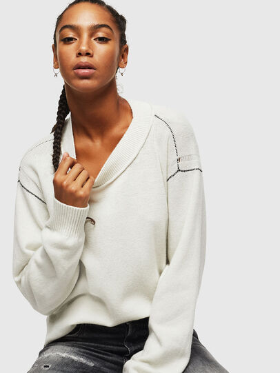 Diesel - M-CURRI, White - Knitwear - Image 4