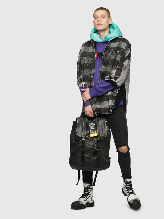 Diesel - VOLPAGO BACK, Anthracite - Backpacks - Image 6