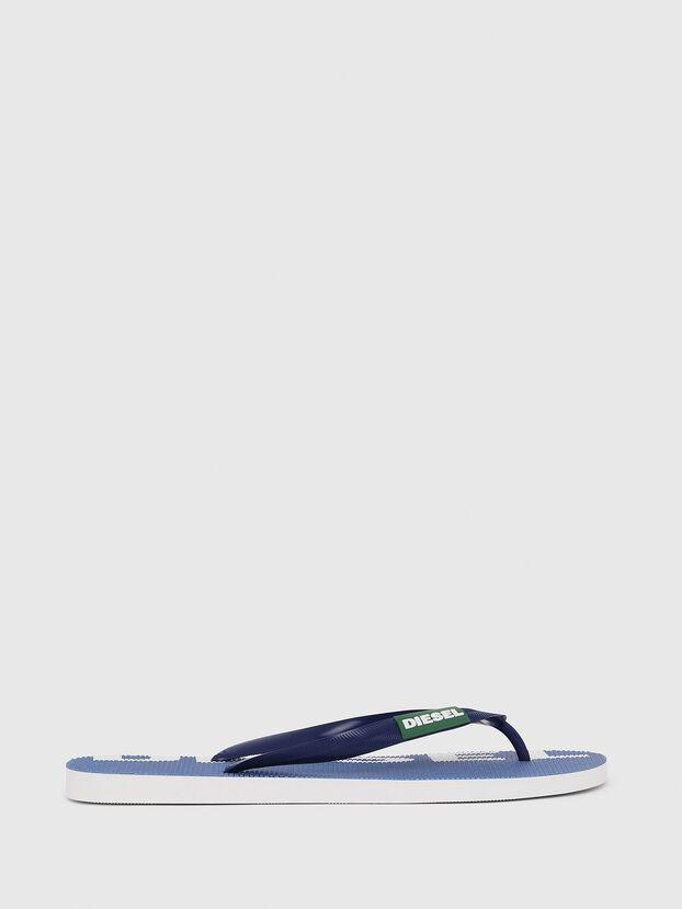 SA-BRIIAN, Blue/White - Slippers