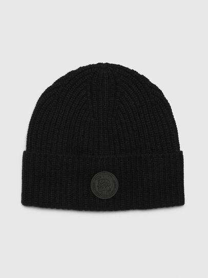 Diesel - K-LORO, Black - Knit caps - Image 1