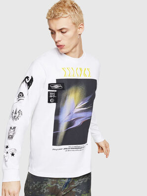 T-JUST-LS-A3, White - T-Shirts