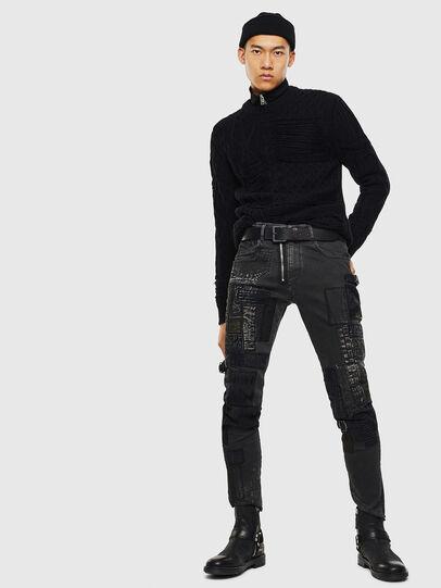 Diesel - D-Strukt 0093P, Black/Dark grey - Jeans - Image 7