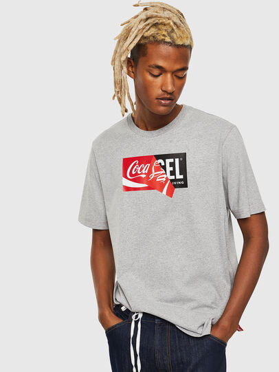 Diesel - CC-T-JUST-COLA, Grey - T-Shirts - Image 1