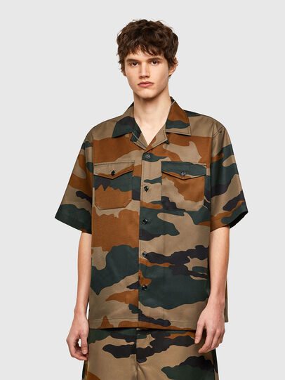 Diesel - S-WOLF-CAMU, Brown/Green - Shirts - Image 1