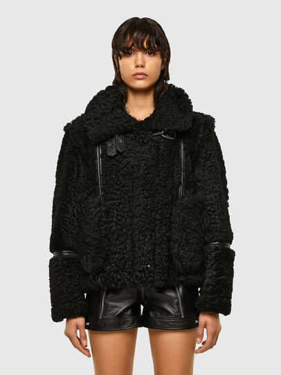 Diesel - L-EYRE, Black - Leather jackets - Image 1