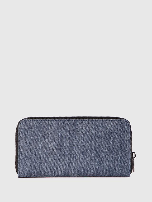 Diesel - 24 ZIP, Blue Jeans - Zip-Round Wallets - Image 2