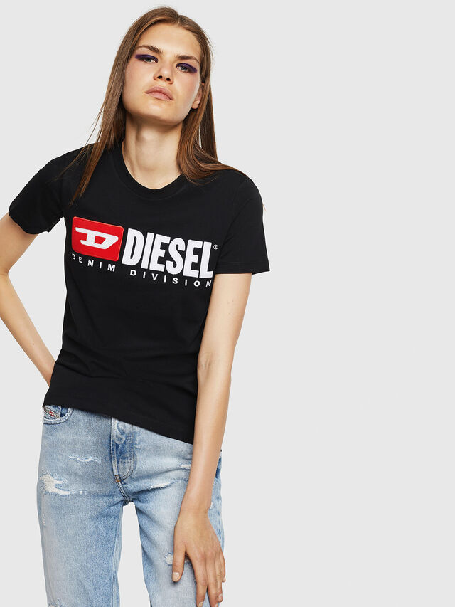 Diesel - T-SILY-DIVISION, Black - T-Shirts - Image 1