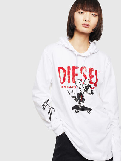 Diesel - CL-T-JUST-LS-HOOD, White - T-Shirts - Image 2