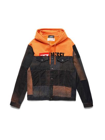 Diesel - D-BNHILL55, Orange - Denim Jackets - Image 1