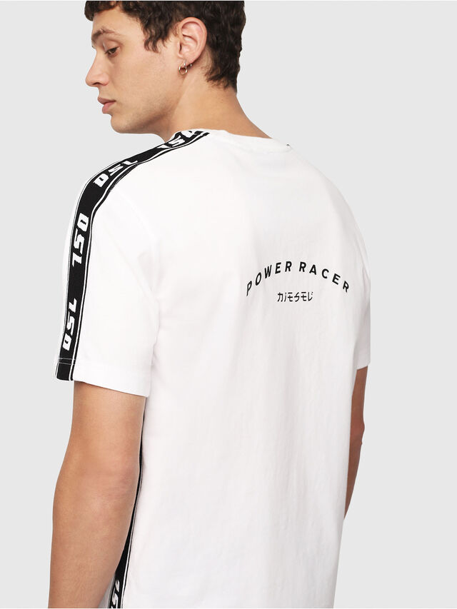 Diesel - T-JUST-RACE, White/Black - T-Shirts - Image 4