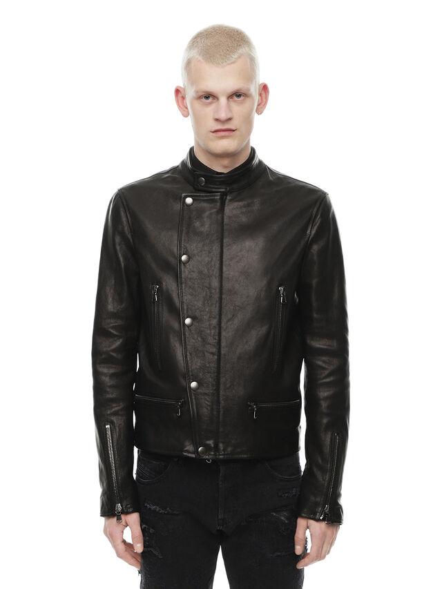 Diesel - LAZING, Black - Leather jackets - Image 1