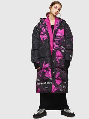W-DORYN-B, Black/Pink - Winter Jackets