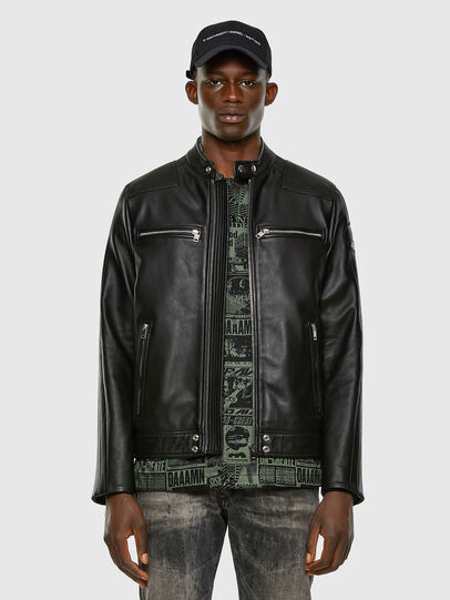 Diesel - L-BOY, Black - Leather jackets - Image 7