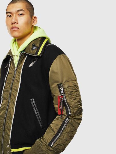Diesel - W-SHARYN, Black/Green - Winter Jackets - Image 4