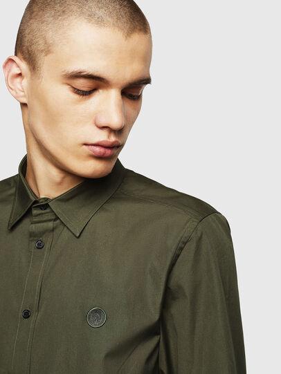 Diesel - S-BILL, Dark Green - Shirts - Image 3