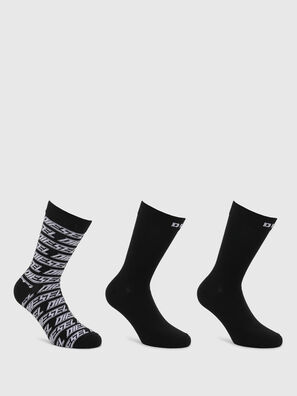 SKM-RAY-THREEPACK, Black - Socks