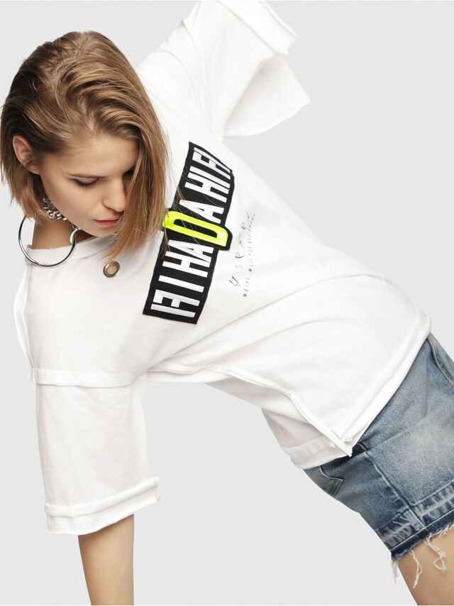Diesel - T-JACKY-C, White - T-Shirts - Image 4