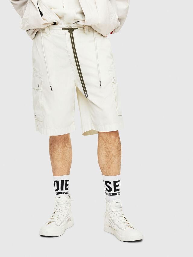 Diesel - P-AIMI-P, White - Shorts - Image 1