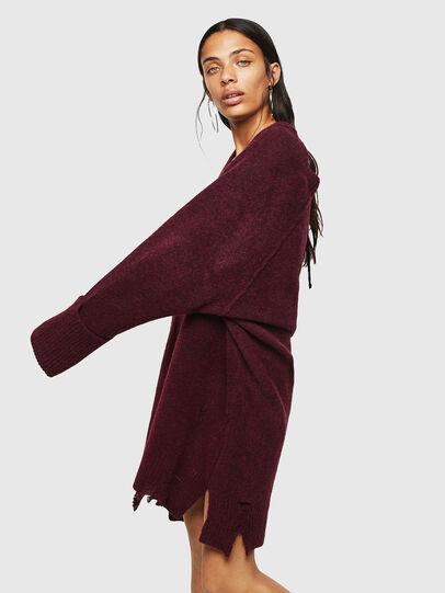 Diesel - M-NOELIA, Burgundy - Knitwear - Image 5