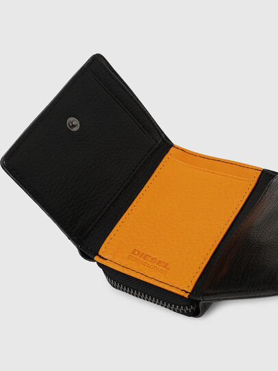 Diesel - SPEJAP, Black/Orange - Small Wallets - Image 6