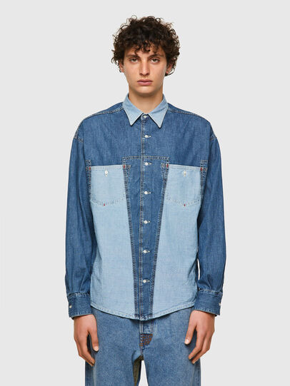 Diesel - DxD-SHIRT, Medium blue - Denim Shirts - Image 2