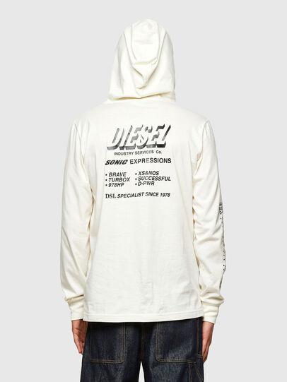 Diesel - T-JUST-LS-HOOD-SLITS, White - T-Shirts - Image 2