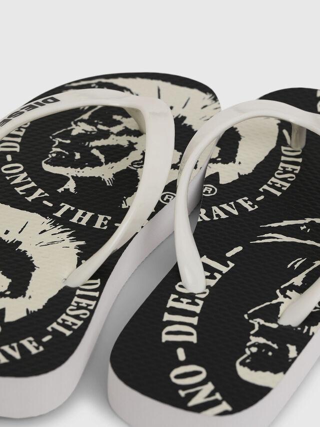 Diesel - FF 22 FLIPPER CH, White/Black - Footwear - Image 4