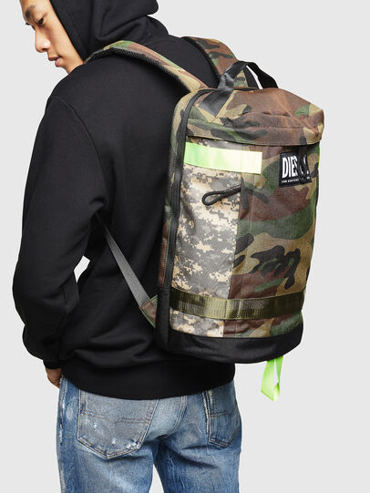 Diesel - PIEVE, Green Camouflage - Backpacks - Image 7